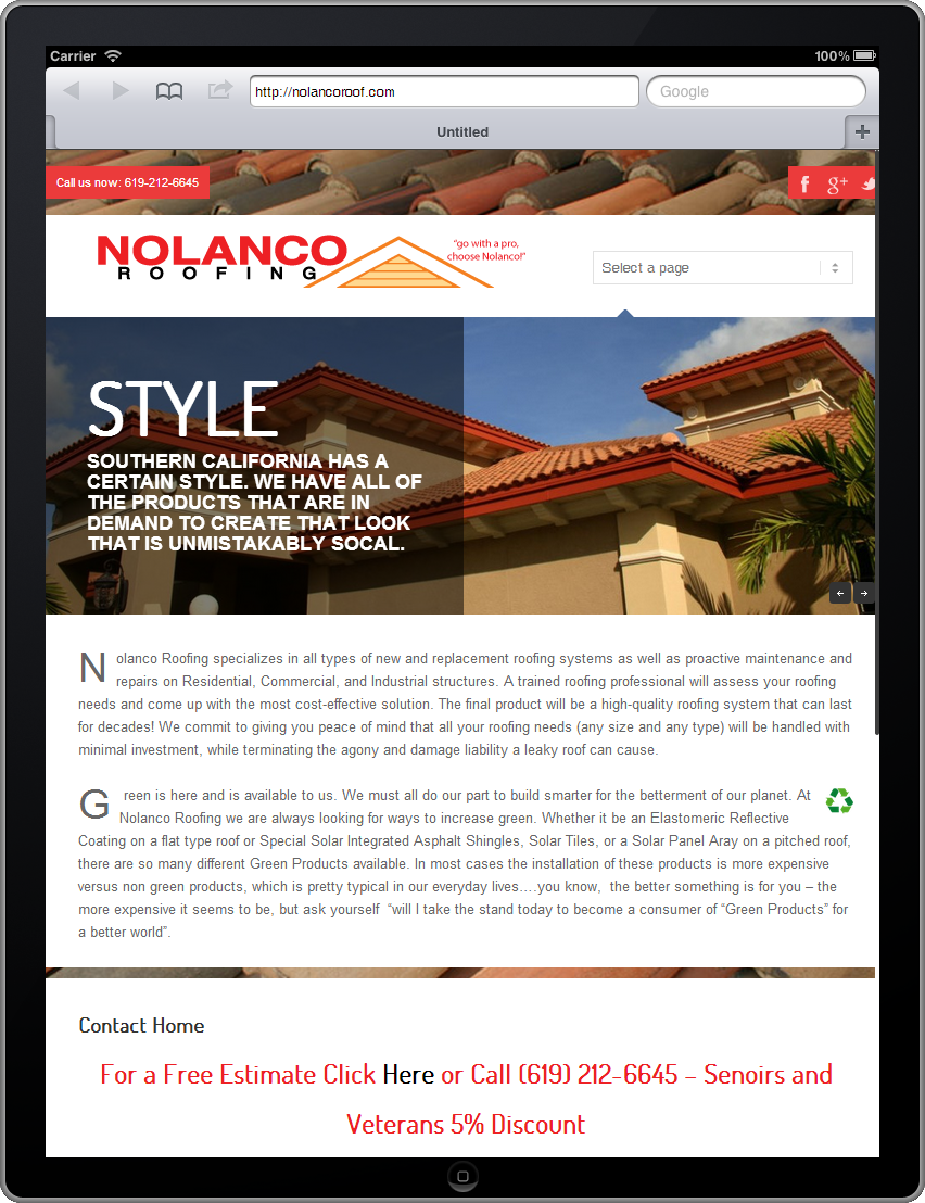 home page nolanco roof image